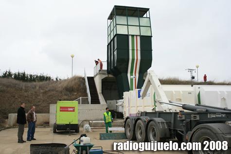 Los técnicos comprobaron el funcionamiento de la planta de transferencia de residuos