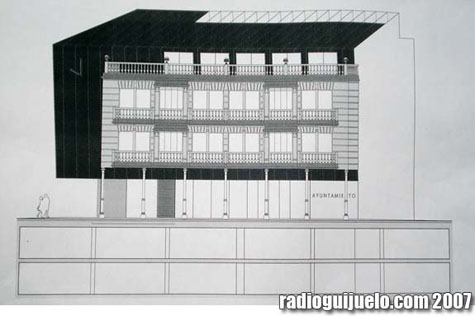 Plano del futuro edificio consistorial