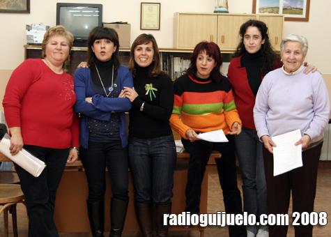Las integrantes del taller de teatro de Gallegos