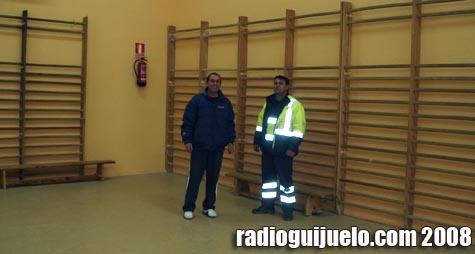 Operarios del Ayuntamiento de Guijuelo muestran la obra finalizada