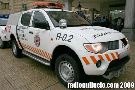El vehículo de Protección Civil está modificado para tareas de rescate