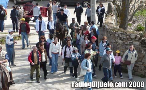 Más de 300 peregrinos salieron de Beleña tras la celebración religiosa