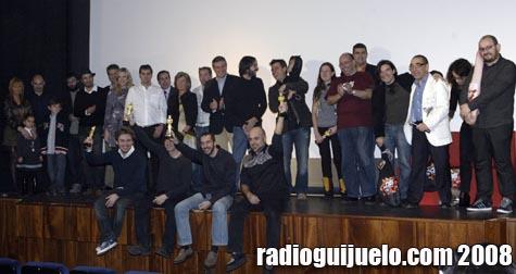 Foto de familia con los premiados, jurado y miembros de la organización