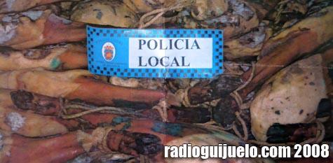 Imagen oficial del lote de paletas incautado por la Policía Local