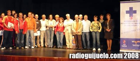 Los donantes guijuelenses que recibieron las medallas