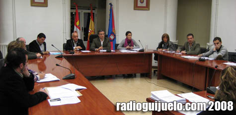 Un pleno anterior en el Ayuntamiento de Guijuelo