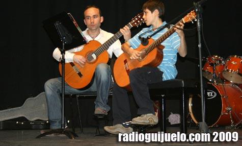 Momento de la audición de los alumnos de guitarra clásica