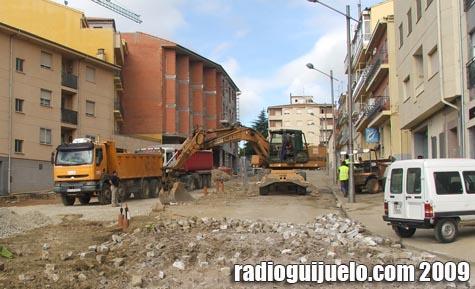 Imagen de archivo de una obra en el centro de Guijuelo