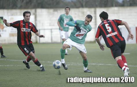 Romero en un lance del partido