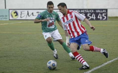 Momento del partido entre el Guijuelo y el Lugo