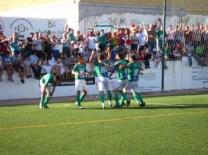 Celebración del gol de Romero