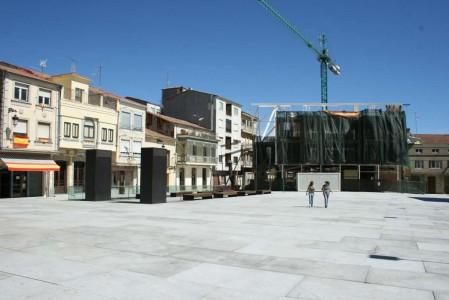 Imagen de la plaza Mayor de Guijuelo. Foto archivo