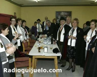 Los capistas en el convite en el Casino de Guijuelo. Foto arhivo