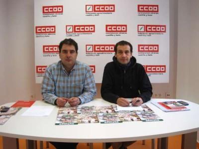 Imagen de la rueda de prensa de CCOO. Foto archivo