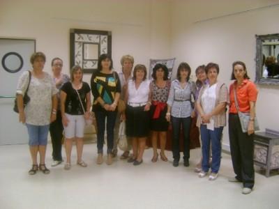 Las miembros de AMEG en la inauguración de la muestra. Foto archivo.