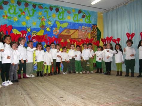Actuación de Navidad de los alumnos del CEIP Miguel de Cervantes. Foto archivo