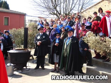 La Cofradía Gastronómica de Guijuelo celebró su Capítulo en la matanza. Foto archivo