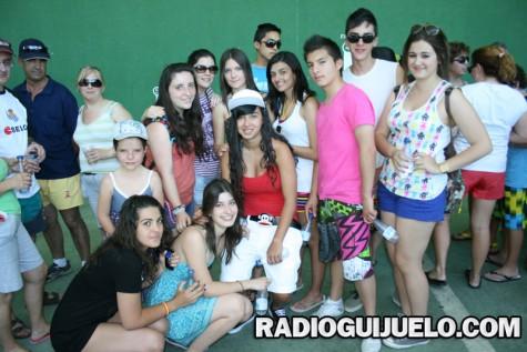 Alumnos durante la convivencia escolar en Guijuelo. Foto archivo
