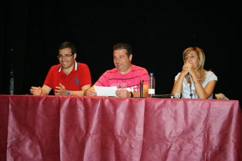 Reunión de peñas en el Centro Cultural. Foto archivo Radio Guijuelo