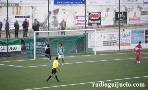 Partido entre el C.D. Guijuelo el Coruxo F.C. en el Municipal de Guijuelo