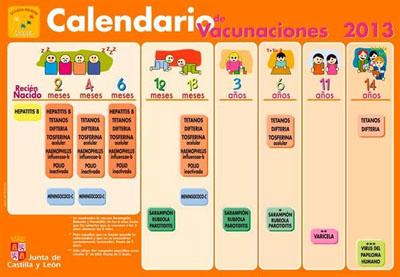 Calendario de Vacunaciones. Foto Junta Castilla y León