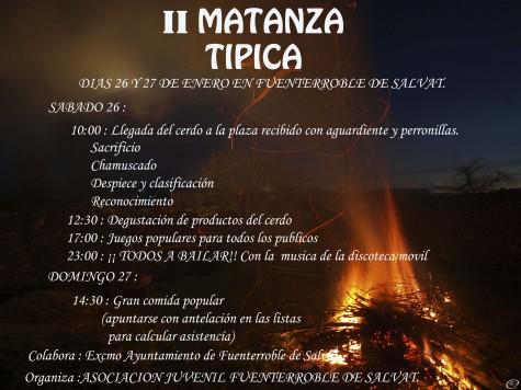 II Matanza Típica de Fuenterroble de Salvatierra.