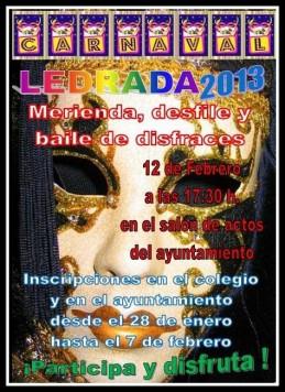 Cartel del Carnaval de Ledrada