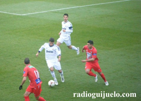 Partido entre el Real Madrid y el C.D. Guijuelo. Foto archivo
