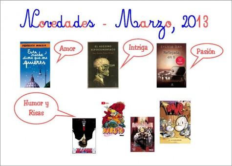Novedades del mes de marzo en la Biblioteca