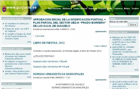 Portal web del Ayuntamiento de Guijuelo