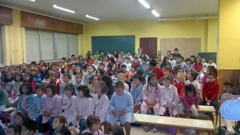 Alumnos del C.P. Miguel de Cervantes. Foto página web Miguel de Cervantes