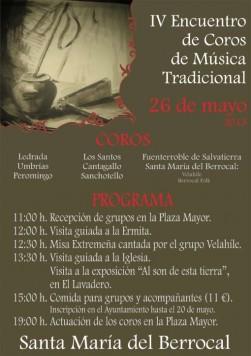 IV encuentro de coros en Santa María del Berrocal