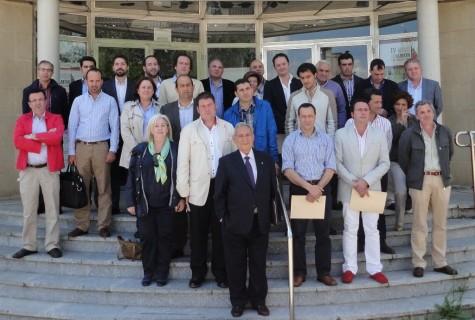 Miembros del Consejo Regulador de la Denominación de Origen saliente y entrante