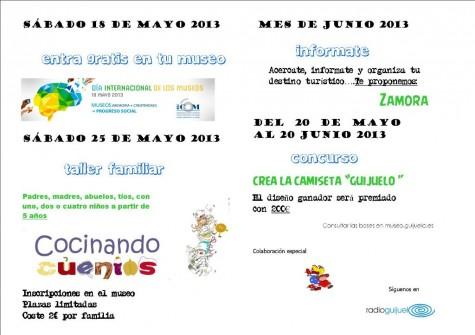 Agenda mes de mayo y junio del Museo de la Industria Chacinera
