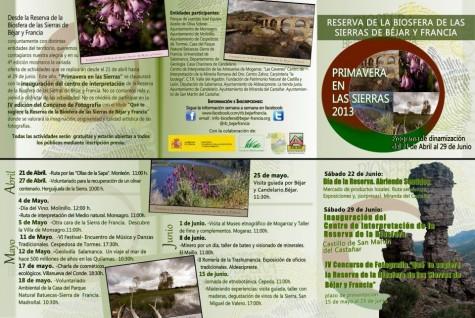Programa Primavera en las Sierrtas 2013