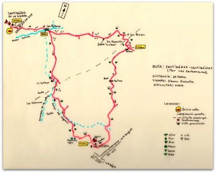 Ruta en Santibañez de la Sierra
