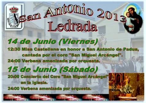 Fiestas de San Antonio en Ledrada