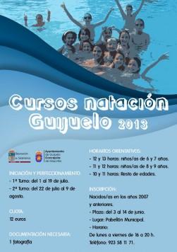 Cartel cursos de natación 2013