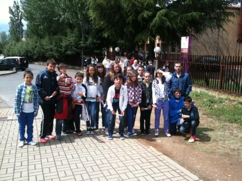 Alumnos del colegio Miguel de Cervantes