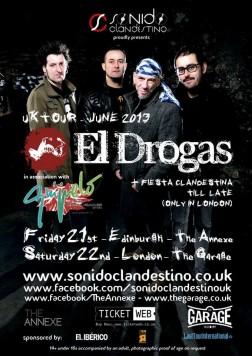 Cartel del concierto El Drogas