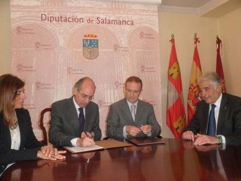 Convenio Diputación de Salamanca y REGTSA. Foto Diputación de Salamanca