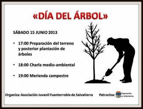 Día del árbol en Fuenterroble. Foto Cuaderno de Entresierras