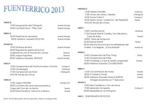 Fuenterrico 2013