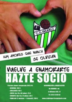 Cartel captación de socios del C.D. Guijuelo