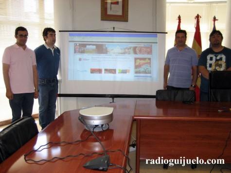 Presentación de la página web del Ayuntamiento de Guijuelo