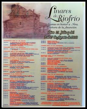 Programa de fiestas en Linares de Riofrío