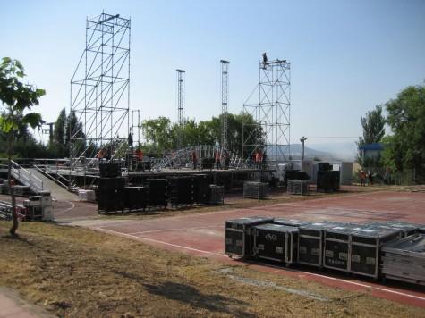 Escenario del concierto de Melendi en Guijuelo