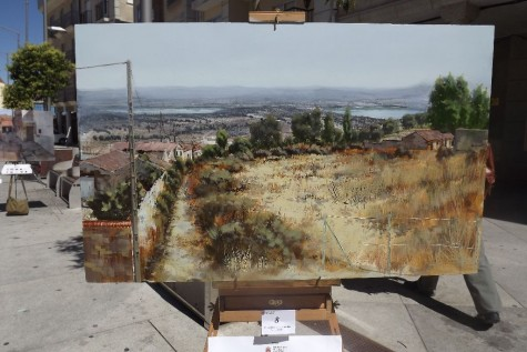 Obra ganadora del Certamen de Pintura al aire libre Villa de Guijuelo