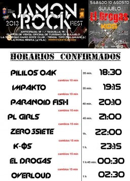 Horario del JAMON ROCK