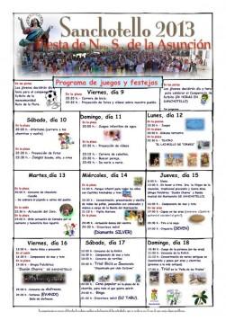 Programa de fiestas en Sanchotello